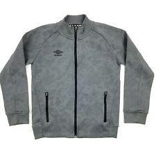 Umbro Jacket Boy's Size Medium 8-10 Gray Mock Neck Full Zip Medium Weight Ls