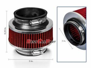 """3"""" Inches Cold Air Intake Bypass Valve Filter 76mm RED Fit For Nissan"""