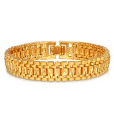 U7® Mens Bracelet 18k Real Gold Plated Link Chain Classic Bangle Fashion Jewelry