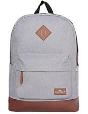 Laptop School Backpack 15.6 inch Grey Casual College Travel Rucksack - 25L