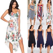 Women Strap High Waist Summer Evening Dress Party Prom Beach Club Casual Dress
