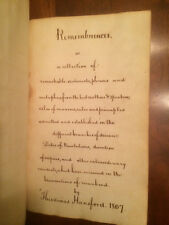 1807 Virginia Handwritten Journal Notes Slavery, America Chase Impeachment Trial