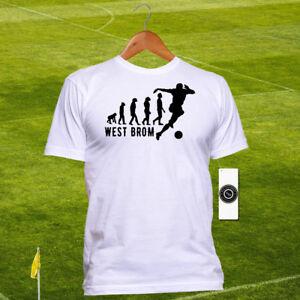 West Brom United FC Football T-shirt - The Baggies Evolution Tshirt - Cotton