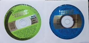 2 KARAOKE CDG R&B SOUL LEGENDS BARRY WHITE,MARVIN GAYE & MORE MUSIC SONGS CD CDS
