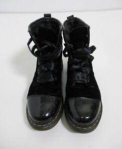 Dr Martens Women's Gracie Velvet Boot Black Size 9 US / 7 UK / 41 EU