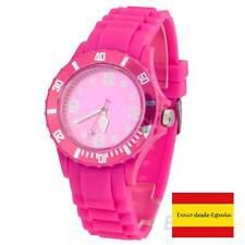 Reloj de pulsera unisex casual silicon jelly ROSA