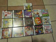 LOT 16 NINTENDO DS GAMES COMPLETE BEJEWELED SHREK MATH PUSS DRAW TINKERBELL BEAR