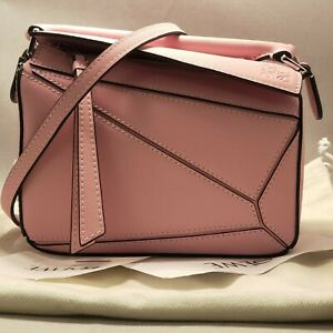 LOEWE MINI PUZZLE BAG PASTEL PINK WITH RECEIPT