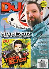 DJ MAG UK 507 March 2012 Claude VonStroke Miami Catz 'N Dogz Sasha TOCADISCO CD