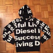Diesel Black Hoodie Sweatshirt Men's Size XL (runs small)  Sold Out! Super Rare!