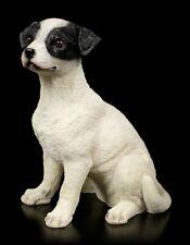 Gartenfigur - Jack Russel Welpe sitzend - Hundewelpe Hundebaby Gartendeko
