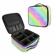 Unicorn Rainbow Bling Star Galaxy Vanity Case Women Makeup Bags Storage Boxes