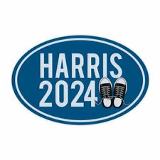 """Oval Campaign Magnet, Kamala Harris 2024 President (Sneakers), 6"""" x 4"""" Magnet"""