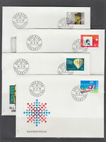 Switzerland Mi 1146/1164, 1979  issues, 5 cplt sets of singles on 15 FDCs