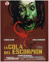 Sergio Martino Signed Photo La Cola Del Escorpión Foto Autografata Cinema Coa