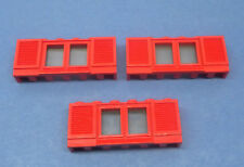 Lego 2x Window Fenêtre Finestra 1x3x2 31 Red//Rouge//Rot
