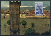Italia 1966 Cartolina Maximum 100% Firenze Alluvione, Panorama.