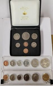 Lot of (3) 1964 1971 1989 Canadian Mint Coin Sets #181