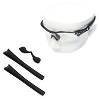 Black Silicone Kit Replacement Ear Socks & Nose Piece for-Oakley Radar Path