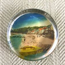 Seagrove Bay Isle of Wight Antique Paperweight Souvenir Glass