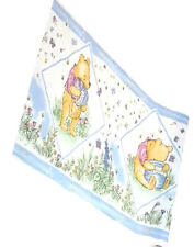 New Classic Winnie The Pooh Bear Butterfly Baby Blue Nursery Wallpaper Border