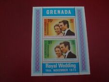GRENADA: 1973 ROYAL WEDDING - MINISHEET - UNMOUNTED MINT MINIATURE SHEET