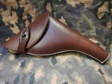 Holster en cuir brun pour REVOLVER WEBLEY 38 ( GB GUN WW1 MILITARIA ) 32 x 23 cm