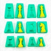 6x Silikon 3D International Schach Backform Form Kuchen Fondant Küche Cake- E4G7