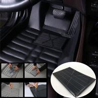 Black Universal PVC Car Auto Floor Carpet Antiskid Pad Heel Foot Mat Pedal Patch