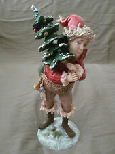 "Duncan Royale 12"" Santa Claus Pixie Figurine w/Original Box & Packaging Euc"