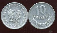 POLOGNE  10 groszy 1949