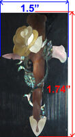 PH36# Rose W Cross Inlay in Bronze Mother of Pearl & Paua Abalone
