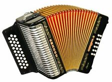 Hohner Button Accordion Corona II Classic GCF, With Bag, Straps, Jet Black