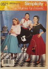 Simplicity Poodle Skirt Costume Pattern 0521 5403 UC Misses HH 6 - 12