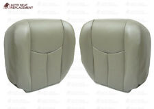 2003 To 2006 Chevy Tahoe Suburban Driver& Passenger Bottom Seat Cover Gray Vinyl