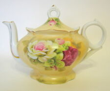 Lefton Decorative Teapot Music Box Duo Tea For Two Hand Painted Floral