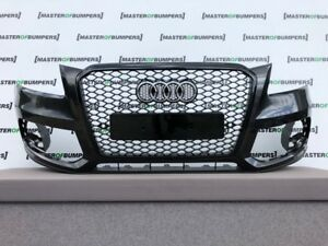 AUDI Q5 2012-2015 FRONT BUMPER IN GREY WITH RS DESIGN GRILL GENUINE [A543]