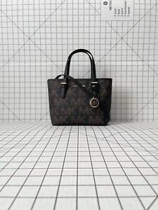 Michael Kors XS small tote crossbody graphic Signature MK logo Bag