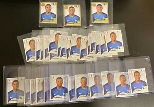 Lot (37) 2018 Panini World Cup Soccer Sticker Kylian Mbappe RC Rookie w/ Gold