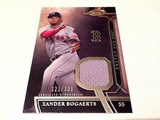 Xander Bogaerts 2015 Topps Tier One Game Used Jersey Card #/399 Boston Red Sox
