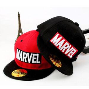 Kids Boys Marvel Embroidery Baseball Cap Hiphop Snapback Toddler Sun Hat School
