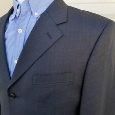 Jones New York Men's Navy Blazer size 40L Wool Silk Sport's Coat 3 Button Front