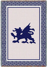 48x69 WELSH DRAGON Tapestry Afghan Throw Blanket