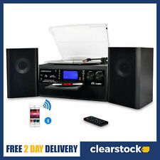More details for digitnow bluetooth vinyl record player turntable with speakers cd usb player