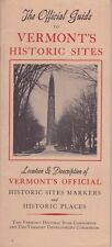 c1950 Official Guide To Vermont Historic Sites Brochure