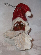 2007 Handcrafted/Hand Painted Wooden Santa Heartwood Galleries
