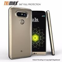 For LG G5 Tri Max Transparent Slim Clear Full Body Screen Protector Case Cover