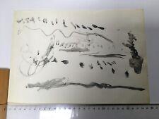 Joseph Beuys seltenes frühes Aquarell handsigniert und datiert auf Rückseite