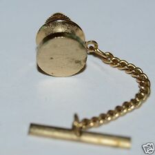 Wow Nice Vintage Circular Golden Aged Men's Tie Tack Clasp Rare