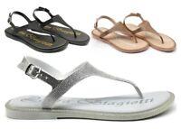 Sandali da donna Laura Biagiotti 6282 scarpe infradito basse casual mare estivi